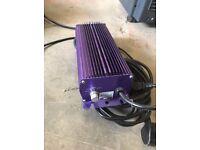 Used Lumatek 400w 600w Watt Digital Dimmable Electronic Grow Light Ballast ONLY