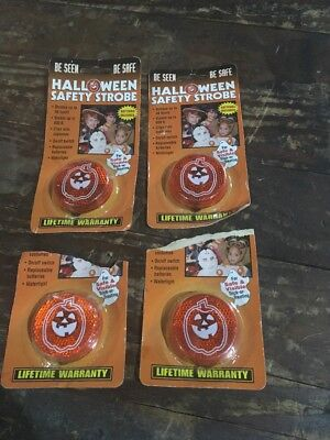 Vintage Halloween Safety Strobe Lights Pumpkin Lot of 4 ](Vintage Halloween Safety)