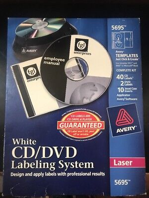New Avery CD/DVD Labeling System for Laser Printers, White 5695 40 CD Labels A32