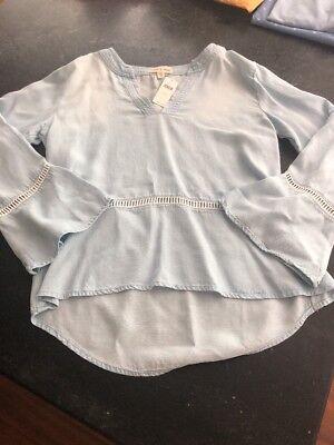 Anthropologie (cloth & stone) Denim Peasent Shirt (Peasent Clothing)