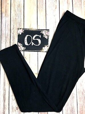 NWT One Size Black Leggings OS Fits Size 2-12 Buttery Soft
