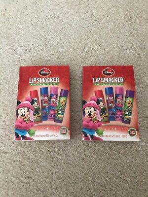 2 Disney Lip Smacker Mickey Mouse Friends Best Flavor EVER 4pc Book Set
