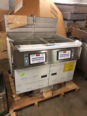 Pitco Battery Of 2 Digital Control 65lb Fryer Frialator Kfc Spec