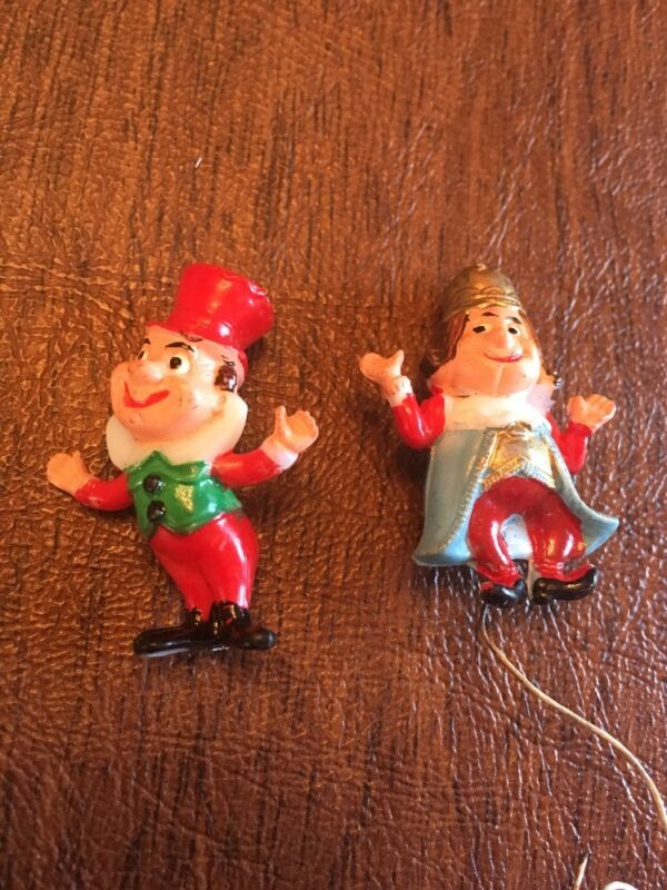 VINTAGE GNOMES Christmas Gnomes Plastic
