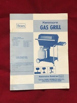 1980 SEAR KENMORE GAS GRILL MANUAL ,ASSEMBLY,  PARTS LIST #23111,311,411,511