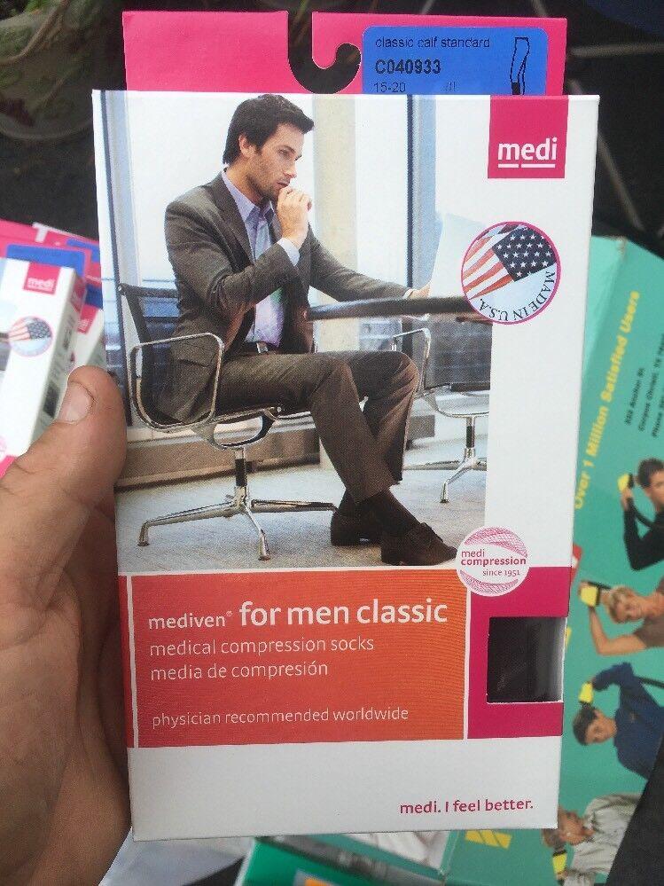 Mediven Men Compression Socks C040933 Brown Calf Standard Cl