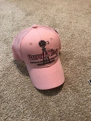 Rural King Americas Farm And Home Store Adjustable Hat Ladies Womens Pink