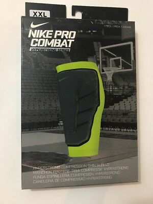b074aa5ca9 Nike Pro Combat Hyperstrong Series Compression Shin Sleeve White XXL NWT