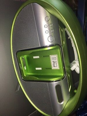 ilive green ipod dock speaker -