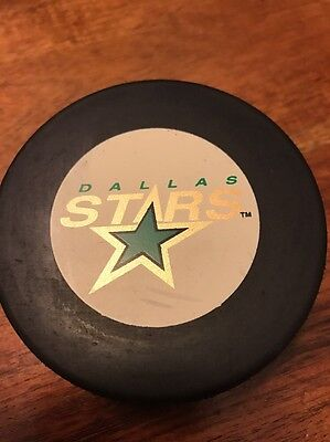 Official NHL Trench Mfg Hockey Puck 1990s Dallas Stars Vintage (KC)