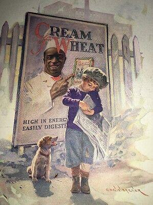 Cream Of Wheat Ad Rastus  Black Man Memorabilia 1924  Newspaper Boy Brewer Art
