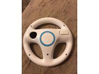 Genuine Official Nintendo Wii Mario Kart White & Blue Steering Wheel