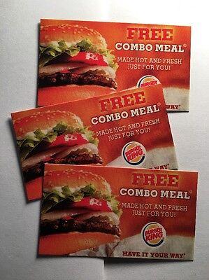 20 Burger King Combo Meal Vouchers!      No Expiration!!!!