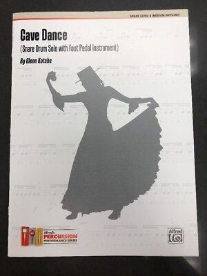 Snare Drum Solo Sheet Music - Snare Drum Solo Sheet Music 'Cave Dance' with Foot Pedal Instrument New