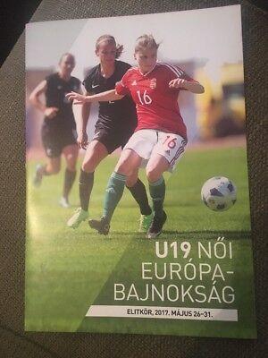 VERY RARE - Women's U19 European Championships Qualifying - Elite Round May 2017
