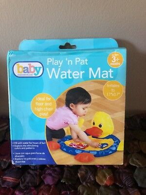"""NIB 3+ Duck Pat & Play Fun Water Mat By Baby Connection Size 17"""" X 17"""" CUTE"""