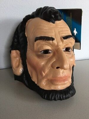 President Abraham Lincoln Vinyl Cesar Mask New/Tag Halloween Political History