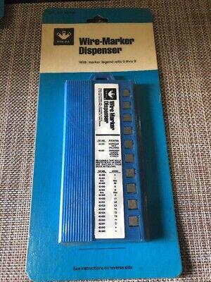 Ideal 42-301 Wire Marker Dispenser With Marker Legend Rolls 0-9