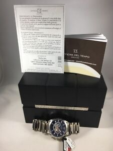 OFFICINA DEL TEMPO MEN'S WATCH IN ORIGINAL BOX REG $695.00 #OT1046/1122B COA NWT