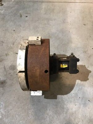 12 Dia Hydraulic Actuated Chuck With Aluminum Soft Jaws Lathe Parker