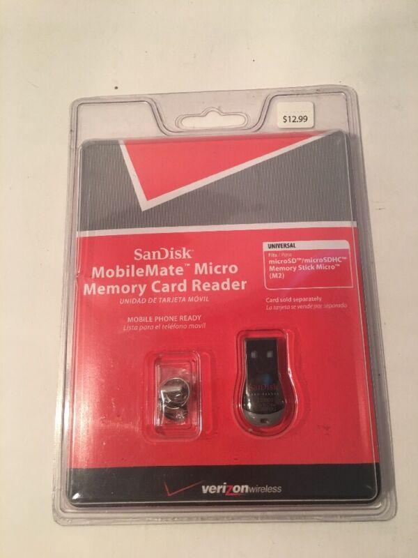 SanDisk MobileMate Micro Memory Card Reader SSDR-121S-V11M Universal New NIP