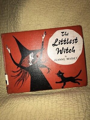 The Littlest Witch Jeanne Massey Hardcover Old Library Book Halloween Vintage - Old Children's Halloween Books