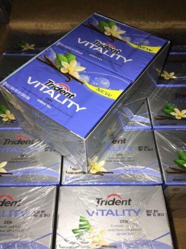 Trident Vitality Gum Zen Vanilla Green Tea (50 Sealed Packs) Discontinued & Rare
