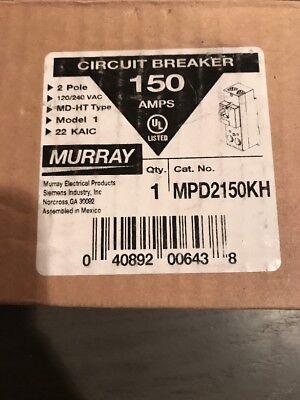 Murray Mpd2150kh 150 Amp 2 Pole Circuit Breaker New In Box