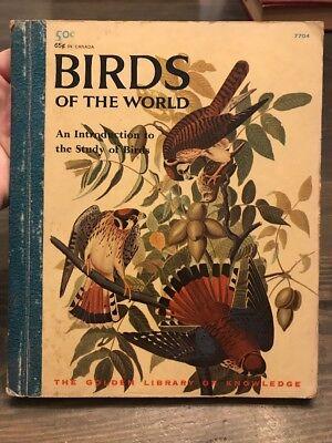 BIRDS OF THE WORLD  Holsaert  Golden Library VINTAGE 1958 hard cover