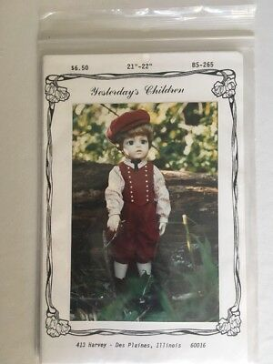 1920s Male Fashion (Yesterday's Children BS-265 Boy Doll Clothing Sewing Pattern 1920s Style)