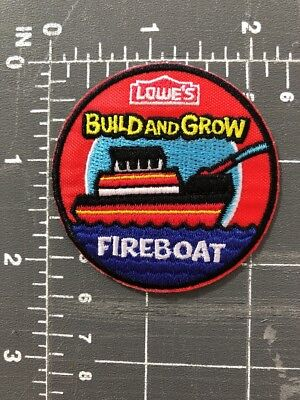 Lowe S Build And Grow Fireboat Patch Wooden Toy Hardware Craft Project Building