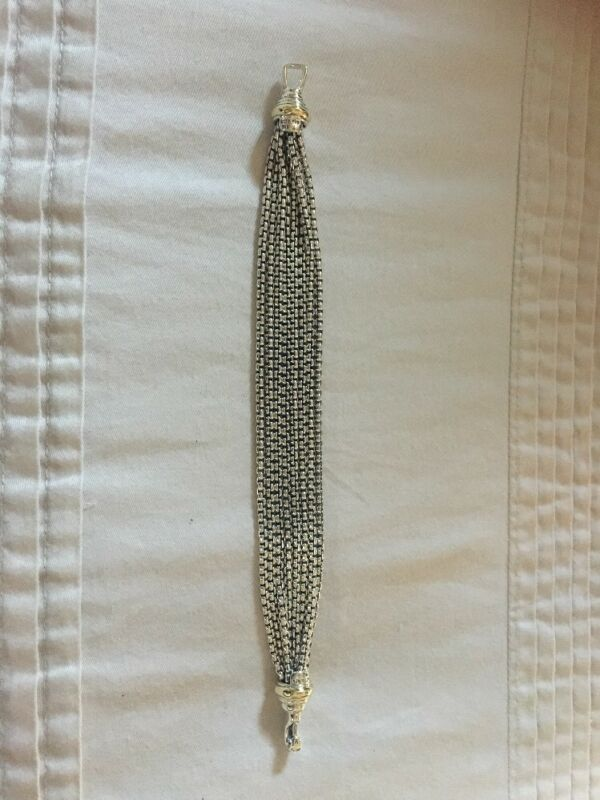 "David Yurman Multi Box Chain 8-row 7 1/2"" Bracelet"