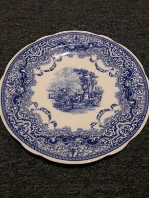(SPODE BLUE ROOM COLLECTION CONTINENTAL VIEWS  Dinner Plate 10.5