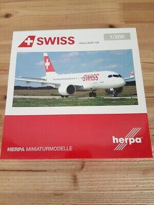 Swiss International Air Lines Herpa 558020-1//200 Airbus A319 Mont Racine