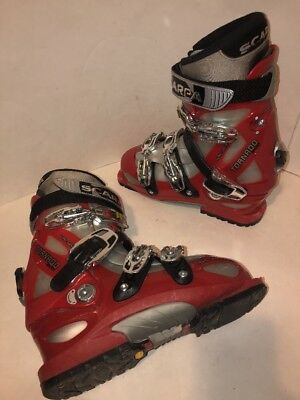 Ski TOURING Boots  SCARPA TORNADO GOOD CONDITION 26.0 Red