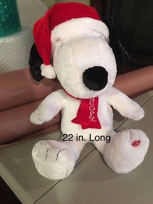 SNOOPY 22 in Plush Musical Peanuts Snoopy Plays Linus & Lucy Christmas NWT