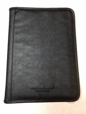 Executive Conference Folder Portfolio Zipped Folio Leather Organizer Black - New