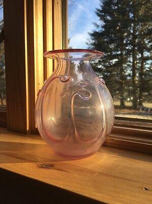 Small Glass Vase. Light Purple Color.