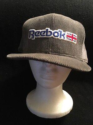 1980's REEBOK HAT CAP SNAPBACK VINTAGE RETRO MEN'S FASHION CORDUROY RARE!!!