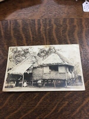 Natives With Pots By House Philippines 🇵🇭 RPPC Photo Postcard