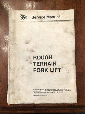 Jcb Rough Terrain Fork Lift Model 400 Service Manual  Manual No. 98033360