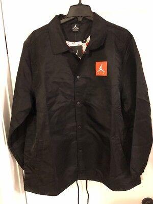 Men/'s Jordan Sportswear Wings Coaches Jacket Red Size L /& XL 882893 687
