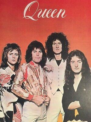 Vintage Queen Poster Pin-Up 1970's London Rock Band Freddie Mercury Memorabilia
