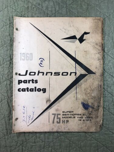 1960 JOHNSON OMC PARTS CATALOG LIST MANUAL 75 HP MODELS P/N 378129 DEALER