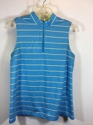 ADIDAS CLIMACOOL Womens Golf tennis Athletic Sleeveless Striped Shirt Medium