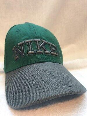Nike Swoosh Green And Grey Baseball Cap Hat
