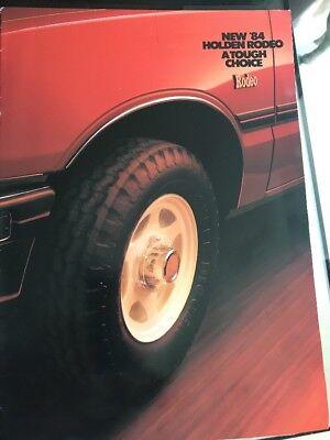 Car Brochure - 1984 Holden Rodeo - Australia