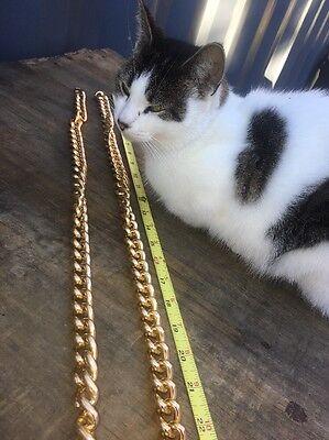 "Pair Macy's VTG Chain Link Goldtone Belt Belts Accessory Disco Fashion 70s ? 42"""
