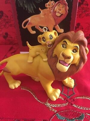 Christmas Disney Hallmark Keepsake Lion King Musafa & Simba Ornament  In Box