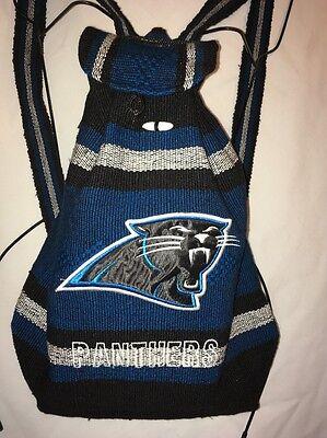 Carolina Panthers Handmade Backpack Blue Indian Style Cotton - Carolina Panthers Backpack